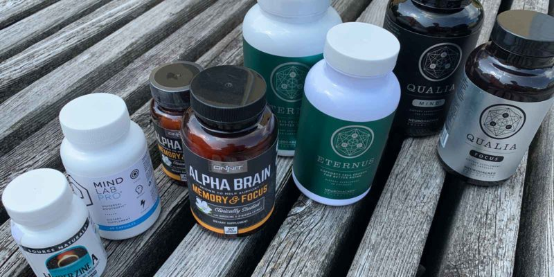 Different Nootropic Stack Bottles