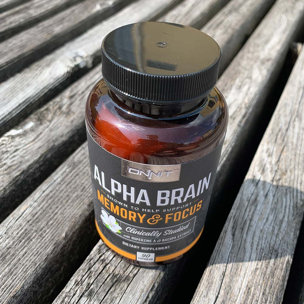 A bottle of Alpha Brain